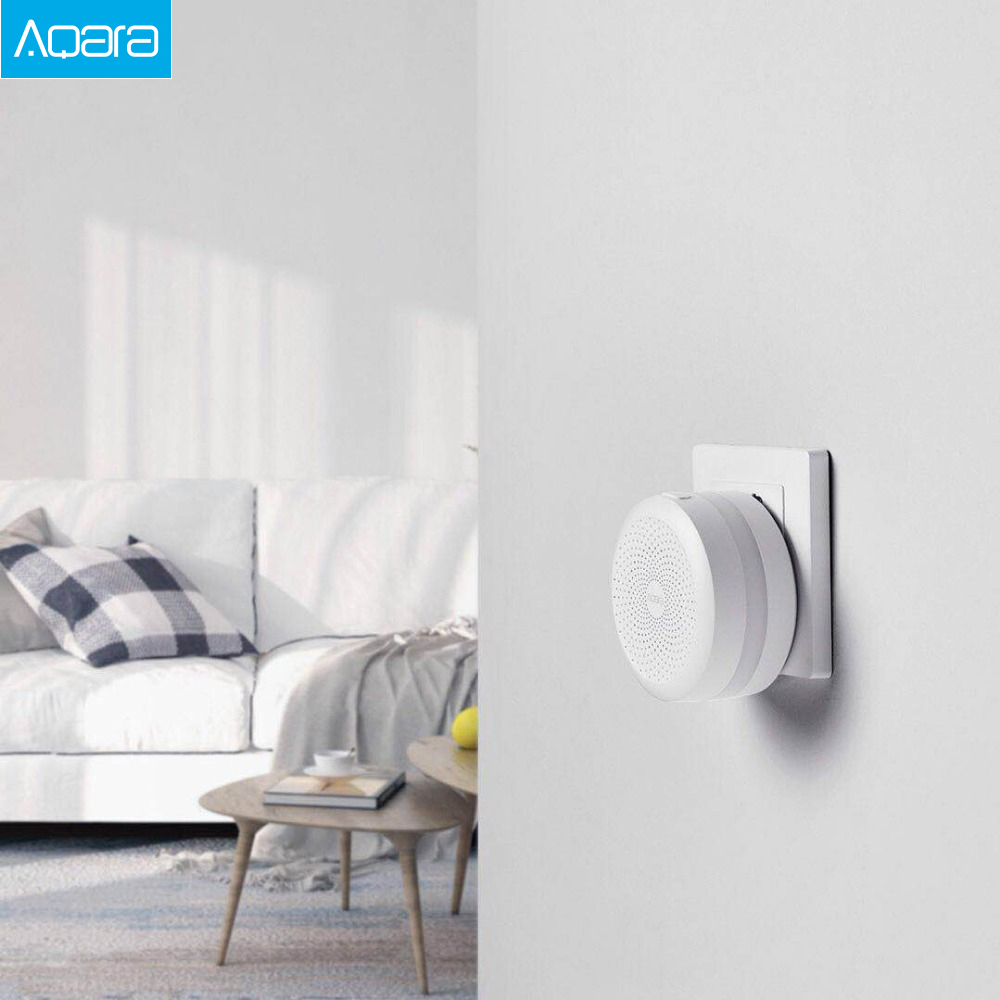 Купить с кэшбэком Original Mijia Aqara Hub Gateway with Led night light Smart work with For Apple Homekit International Edition Gateway