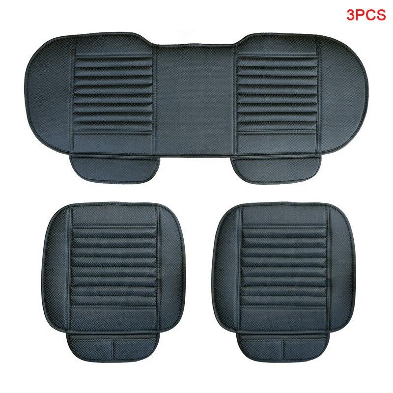 Capa de assento do carro couro do plutônio capas de automóvel acessórios do carro 3 peças para renault scenic 1 2 3 4 símbolo talismã grandtour vel satis zoe