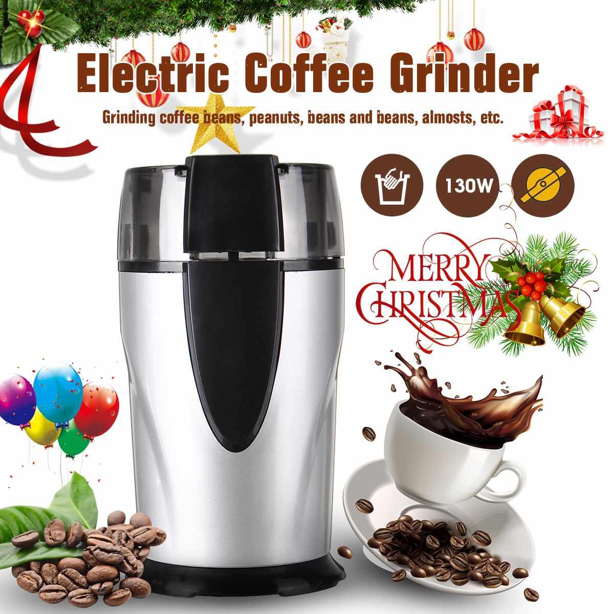 Электрическая кофемолка для специй, лезвия из нержавеющей стали, мельница для кофейных зерен, трав, орехов, кафе, домашний кухонный инструме...