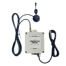 Freeshipping wodoodporny, długi zasięg bezprzewodowy czujnik LoRa DS 18b20 przekaźnik temperatury wbudowana bateria litowa bez kabla