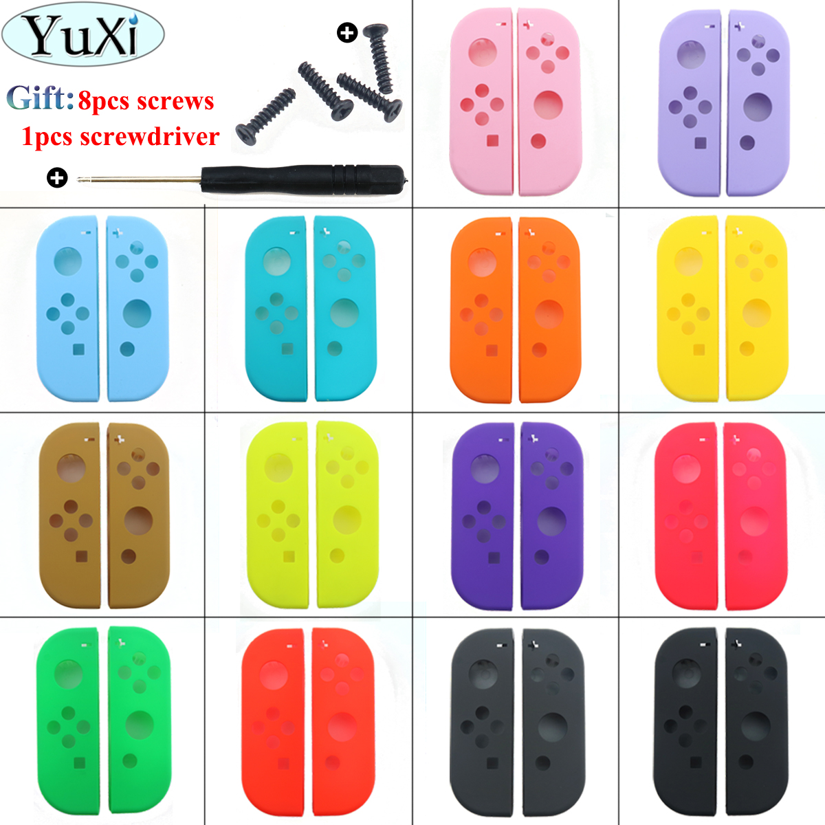 YuXi Protection Cases for Nintend Switch NS Joy Con Replacement Housing Shell Cover for NX JoyCons Controller Case Green Pink(China)