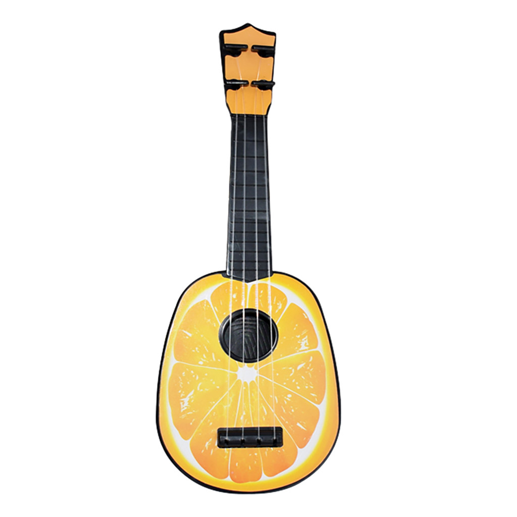 Kids Wooden Toy Sturdy Ukulele Non-toxic Musical Instrument Preschool Music Gift