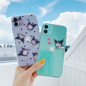 Cute Cartoon kuromi My Melody love phone Case for Apple iPhone 7 8 Plus SE 11 Pro X XS Max XR Clear soft TPU demon Cover(China)