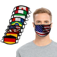 Masque buccal imprimé drapeau national pour adultes, masques lavables et réutilisables pour hommes et femmes, respirateur d'extérieur