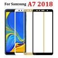 Защитное стекло для samsung galaxy a7 2018, защитный чехол sansumg galax 7a, закаленное стекло для samsung galaxy a7 2018