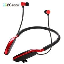 BGreen Bluetooth ספורט אוזניות ספורט אוזניות תמיכה MP3 TF כרטיס השמעת BT שיחת סטריאו אוזניות עם גדול לבנות סוללה