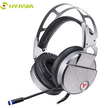 HYASIA PC Gaming Headphones Casque 7.1 Channel Sound USB Wired Earphone Computer Headset Noise reduction With Mic Adjustable
