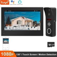 Anchencoky tuya inteligente campainha câmera wi fi vídeo porteiro 1080p detecção de movimento do telefone da porta com alexa/google casa campainha da porta