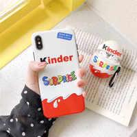 Luxus Marke Candy Schokolade funnly Kinder Freude überraschung ei silikon fall für iphone X XR XS 11 Pro Max 6s 7 8 plus nette abdeckung