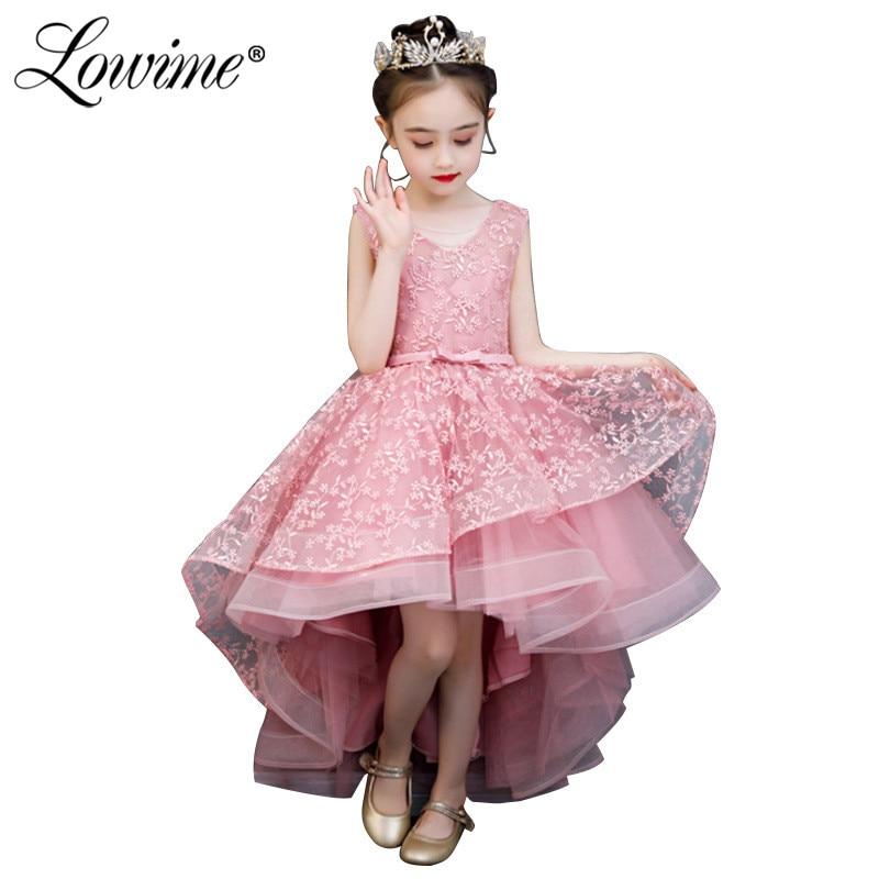 Pink   Flower     Girl     Dresses   Blue Communion   Dresses   2019 Cheap Pageant   Dresses   For   Girls   Vestido De Daminha
