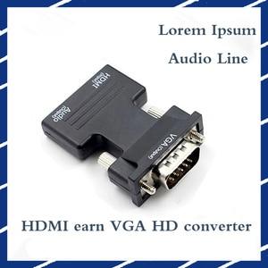 Image 2 - HDMI ל vga ממיר HDMI נקבה ל vga זכר 3.5 אודיו פלט מתאם דיגיטלי לאנלוגי HD 1080P עבור מחשב נייד Tablet רמקול