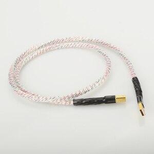 Image 4 - Hifi Nordost Valhalla Top bewertet Versilbert + schild USB Kabel Hohe Qualität Typ A zu Typ B Hifi daten Kabel Für DAC