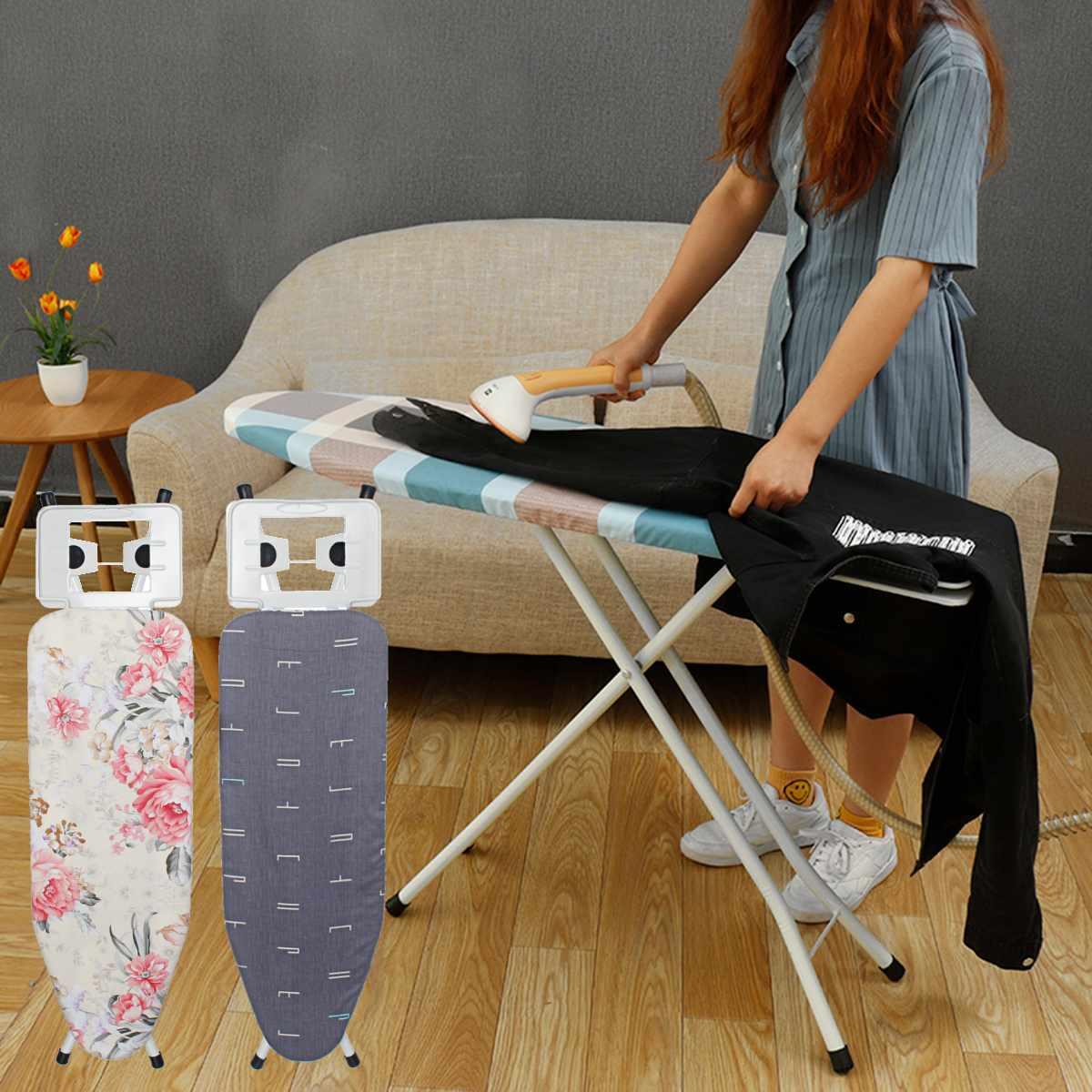 Portable pliant gain de place élastique ménage planche à repasser chaleur anti-dérapant réglable hauteur planche à repasser Table support