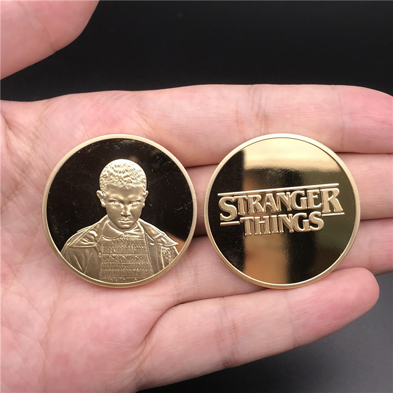 Film Television Drama Stranger Things Periphery Commemorative Coin Eleven Cosplay Metal Collection Coin Commemorative Coin Gift