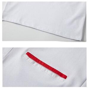 Image 4 - Мужская Повседневная рубашка поло, дышащая хлопковая рубашка поло с короткими рукавами и отложным воротником в стиле пэчворк, модель 5XL в полоску на лето