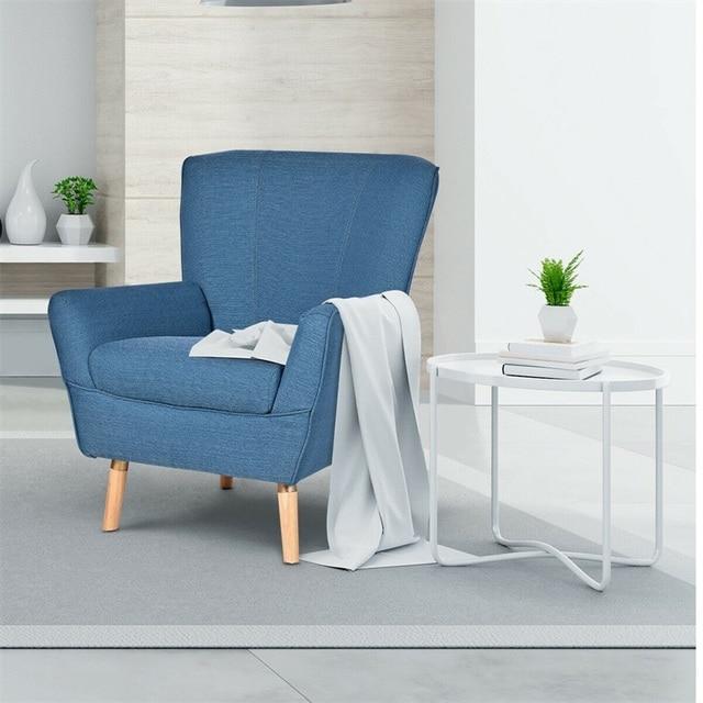 Birch Wooden Legs Accent Leisure Sofa Arm Chair  1