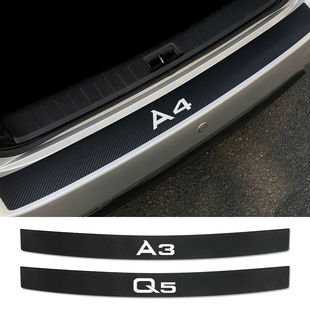 Car Rear Bumper Trunk Load Edge Protector Sticker For Audi A4 B5 B6 B7 B8 A3 8P 8V 8L A5 A6 C6 C5 C7 A1 A7 A8 Q2 Q3 Q5 Q7 TT RS5