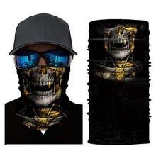Маска для лица мотоциклетный головной платок Шея Мотоцикл Велоспорт Призрак Череп маска для лица Лыжная Балаклава головная повязка бандана для защиты лица мото