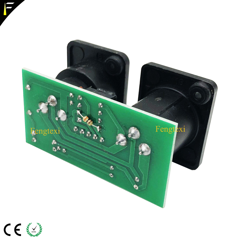 Image 2 - 2pcs 7R/5R 200/230 DMX512 신호 연결 보드 부품 작은 PCB 3pin XLR DMX 커넥터 칩 보드 수리 교체무대 조명 영향등 & 조명 -
