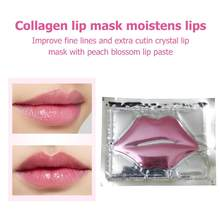 Hot Lip Masker Gold Crystal Collageen Anti-Aging Rimpel Pad Lippen Maskers Peel Off Blijvende Hydraterende Voeden Lippen Care(China)