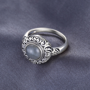 Image 3 - Jewelrypalace Винтаж 1.8ct натуральная Лабрадорит резные Solitaire палец кольцо стерлингового серебра 925 Элитный бренд хороший Красивые ювелирные изделия