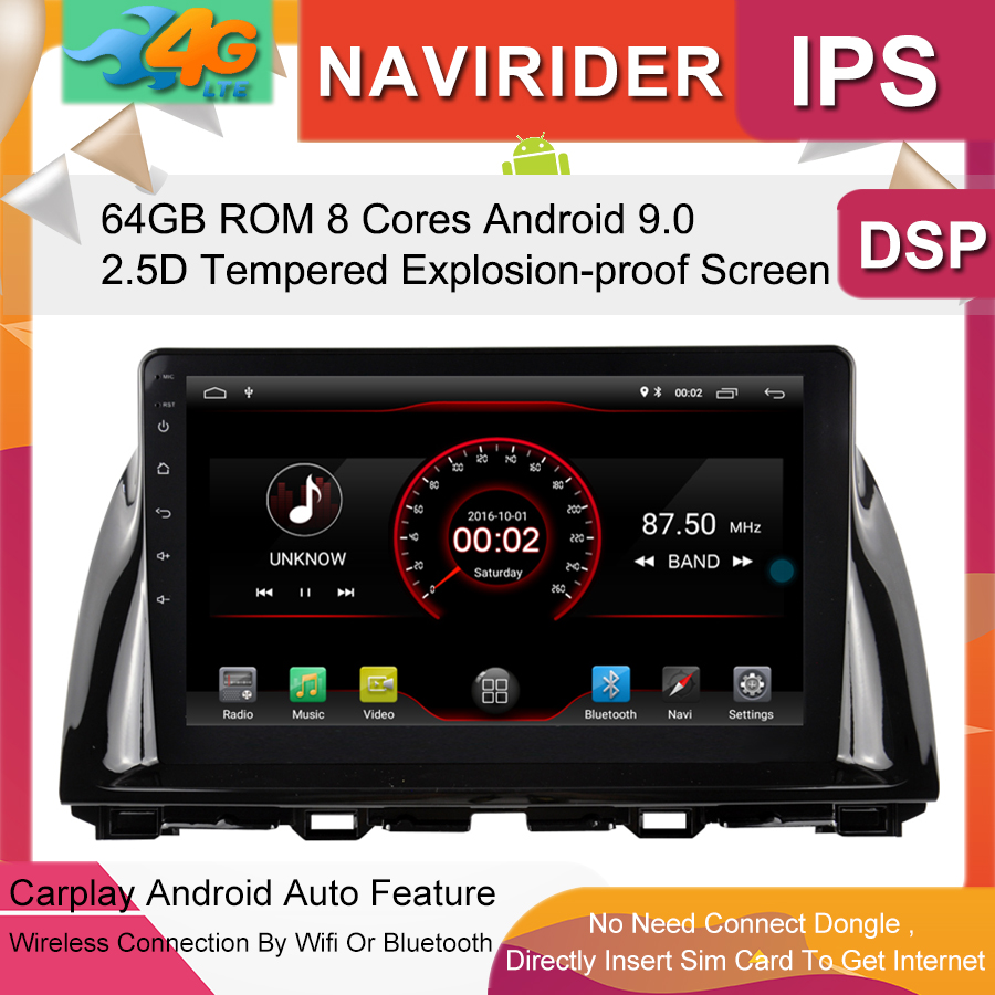 Built in 4G Lte car Intelligent navigation tape recorder 9.0 <font><b>android</b></font> car gps <font><b>radio</b></font> multimedia player for <font><b>MAZDA</b></font> <font><b>CX</b></font>-<font><b>5</b></font> 2013 2014 image