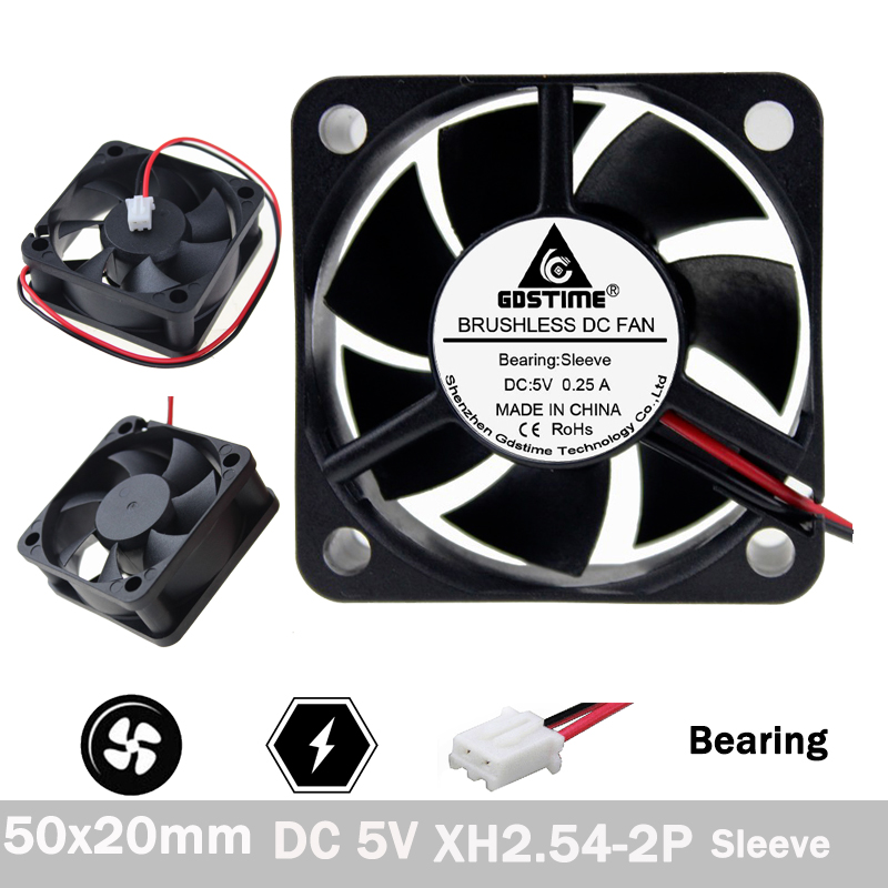 10pcs 12V 50mm 50x20mm DC 0.15A Motor Brushless Cooler Fan for Laptop Industry