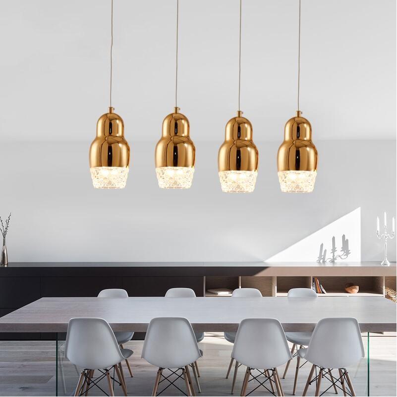 Plated Copper/gold/chrome Single Glass Pendant Lights Modern Dining Room Lights Small Cheap Suspension Light Lustre Luminaire