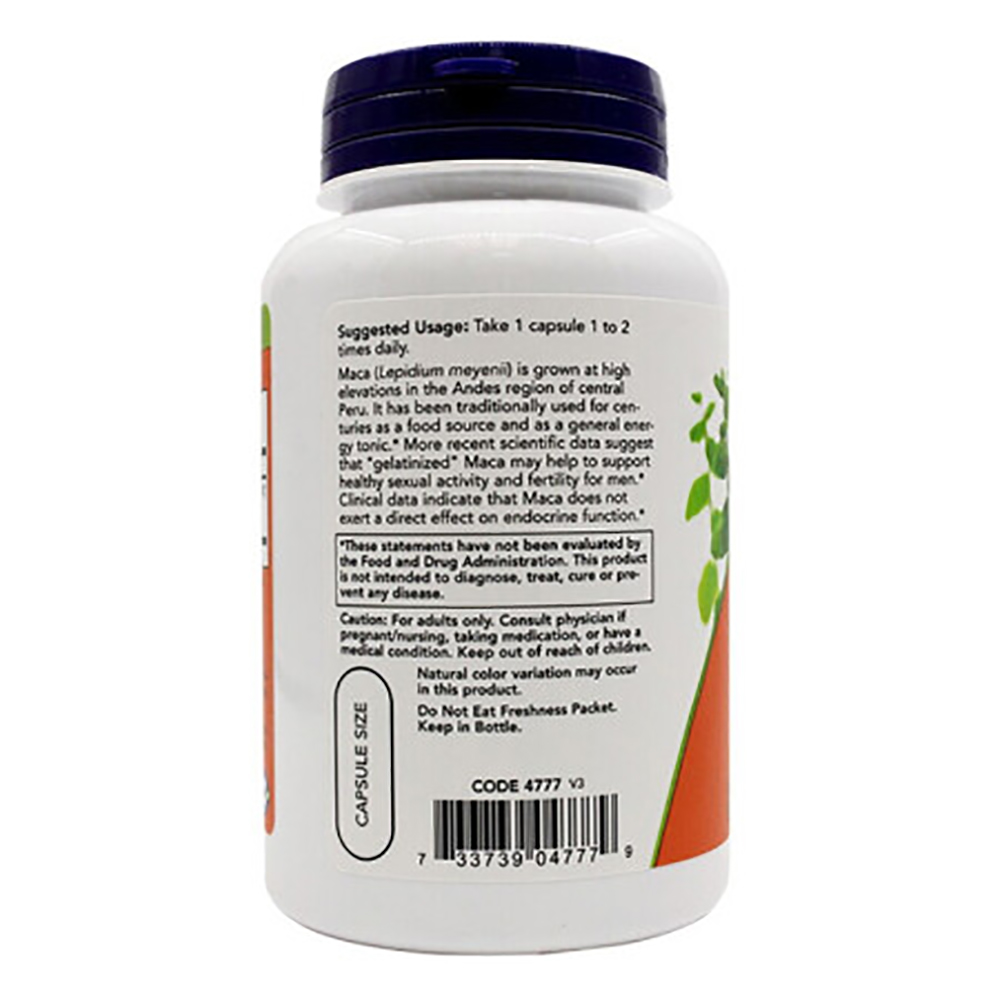 [Now Foods] or food with maca 750mg vege capsule supplement book-degree PCs-mood, united States imported, men's health food, home happy guarantee 2