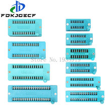 1pcs/lot 14 16 18 20 24 28 32 40 P Pin 2.54 MM Green DIP Universal ZIF IC Socket Test Solder Type IC lock seat zif socket