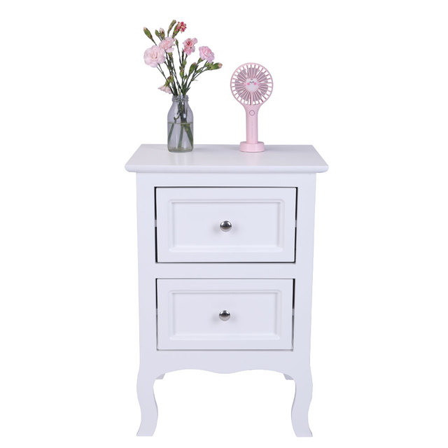 2 Drawer Bedside Nightstand  3