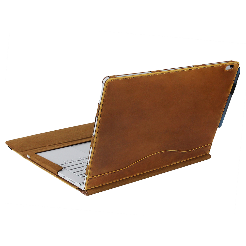 Laptop Cover Case For Microsoft Surface Book 2 13.5inch/15inch - Leather Detachable Protective Flip Folio Case, Two Ways To Use