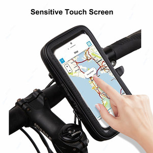 Image 4 - Universal Waterproof Bicycle Motorycle Phone Holder Bags Motorbike Rear View Mirror Stand Mount Bracket GPS Support 6.5 Phone