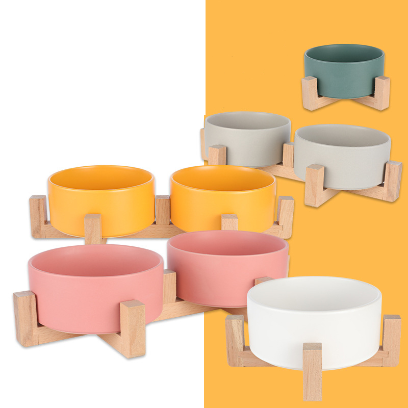 Ceramic font b Pet b font Bowl Canister Food Water Treats for Dogs Cats More Comfortable