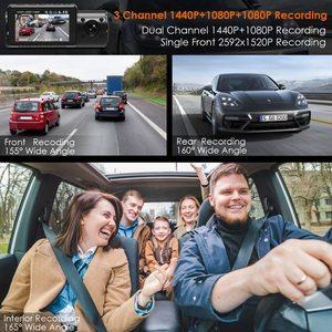 Image 3 - Vantrue 3 채널 N4 대시 캠 4K 카메라 방식 자동차 비디오 레코더 Dashcam 전면 및 후면 카메라 DVR 자동차 택시에 대 한 야간 비전