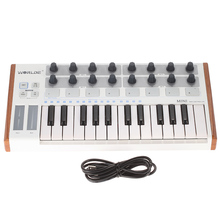 WORLDE MIDI Controller 새로운 울트라 포터블 25 키 뮤지컬 키보드 신디사이저 피아노 키보드 두 가지 유형의 지원 Midi 키보드