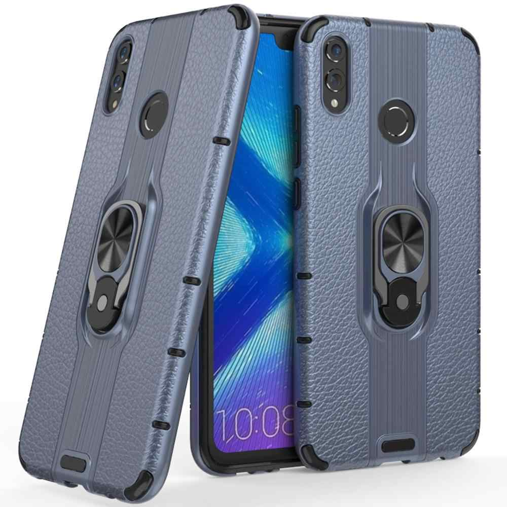 Cassa antiurto Per Huawei Honor 8X Armatura Dell'anello Del Supporto Magnetico Della Copertura Posteriore di Caso Per Honor 8X8 x Stand borsette paraurti