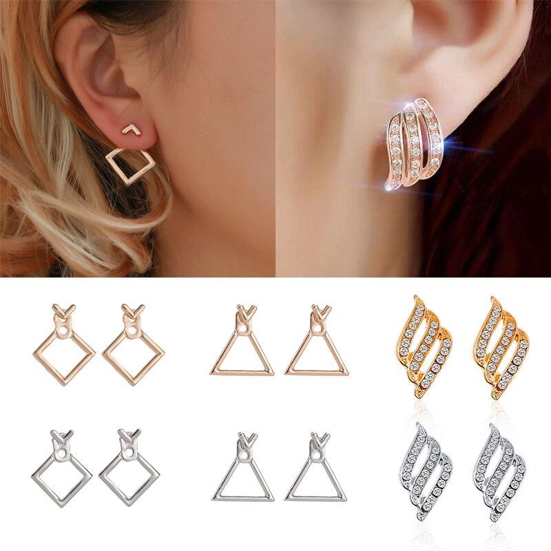 Hot Sale Trendy Cute Nickel Free Earrings Fashion Jewelry 2019 Earrings Square Stud Earrings For Women Brincos Brinco Oorbellen