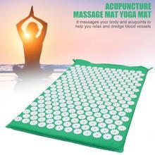 Lotus Nails Acupuncture Massage Pads Acupuncture Massager Cushion Body Pain Stress Relieve Spike Yoga Mat Green
