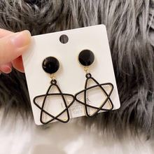2020 new Korean simple models wild geometric skeleton air quality new five-pointed star earrings