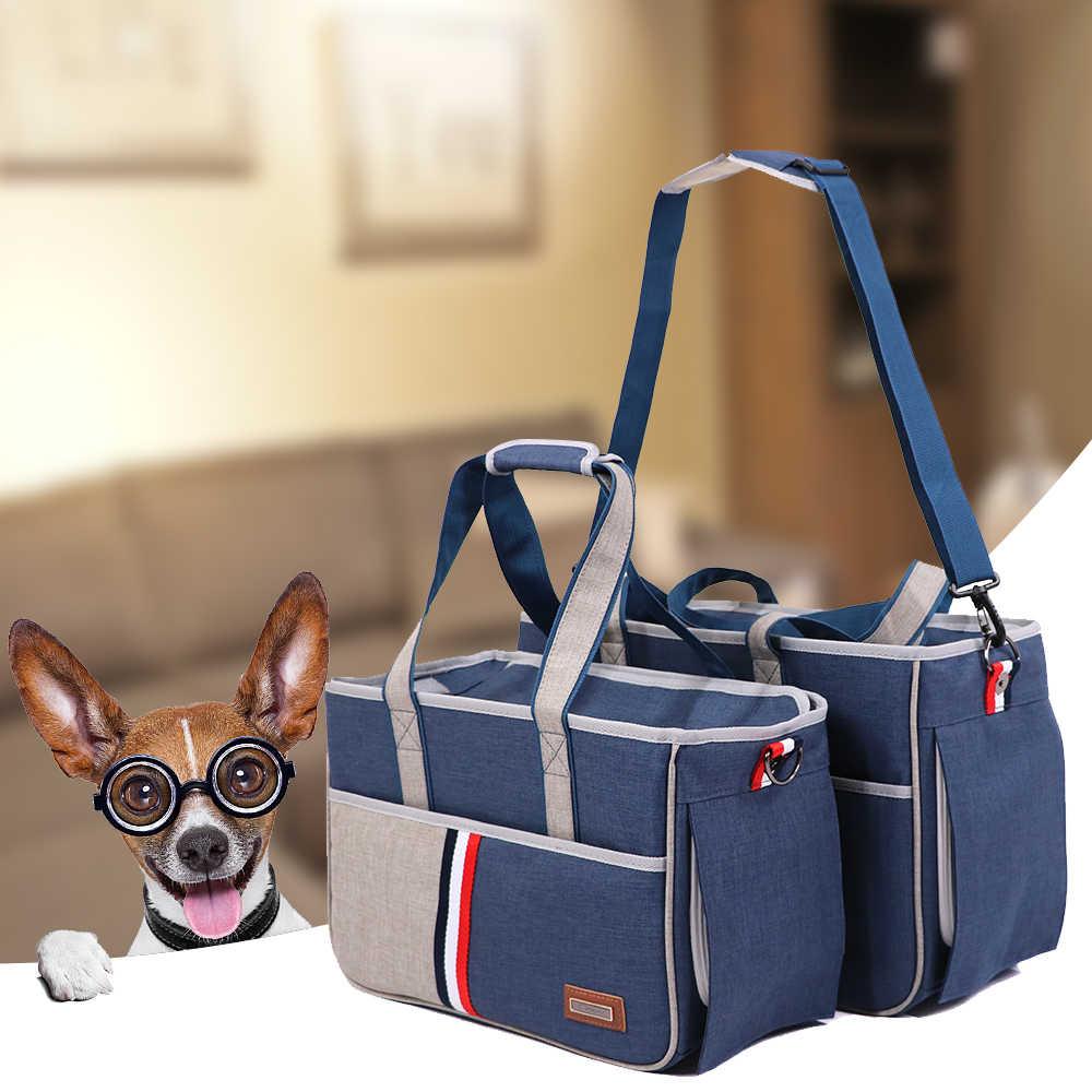新 S/M/L ポータブル旅行バッグ子犬 Travel 実施メッシュショルダーペットバッグペットアクセサリー犬のキャリアバッグペットアクセサリー