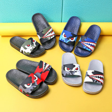 New Summer Children's Slippers For Boys Girls Sandals Cartoon Shark Kids Flip Flop Home Bath Shoes Baby Casual Flat Beach Shoes