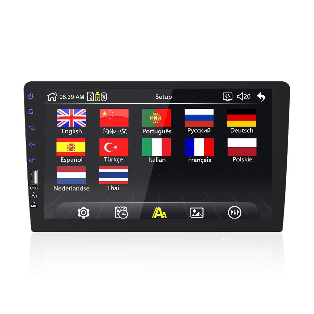 9''10. 1 inch auto multimedia speler 1 din auto radio Bluetooth USB reverse camera MP5 Speler Autoradio GEEN android - 3