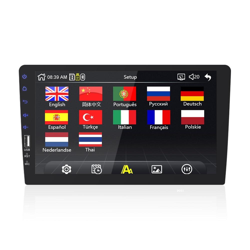 9''10. 1 pollici car multimedia player 1 din car radio Bluetooth USB della macchina fotografica di inverso MP5 Lettore Autoradio NESSUN android - 3