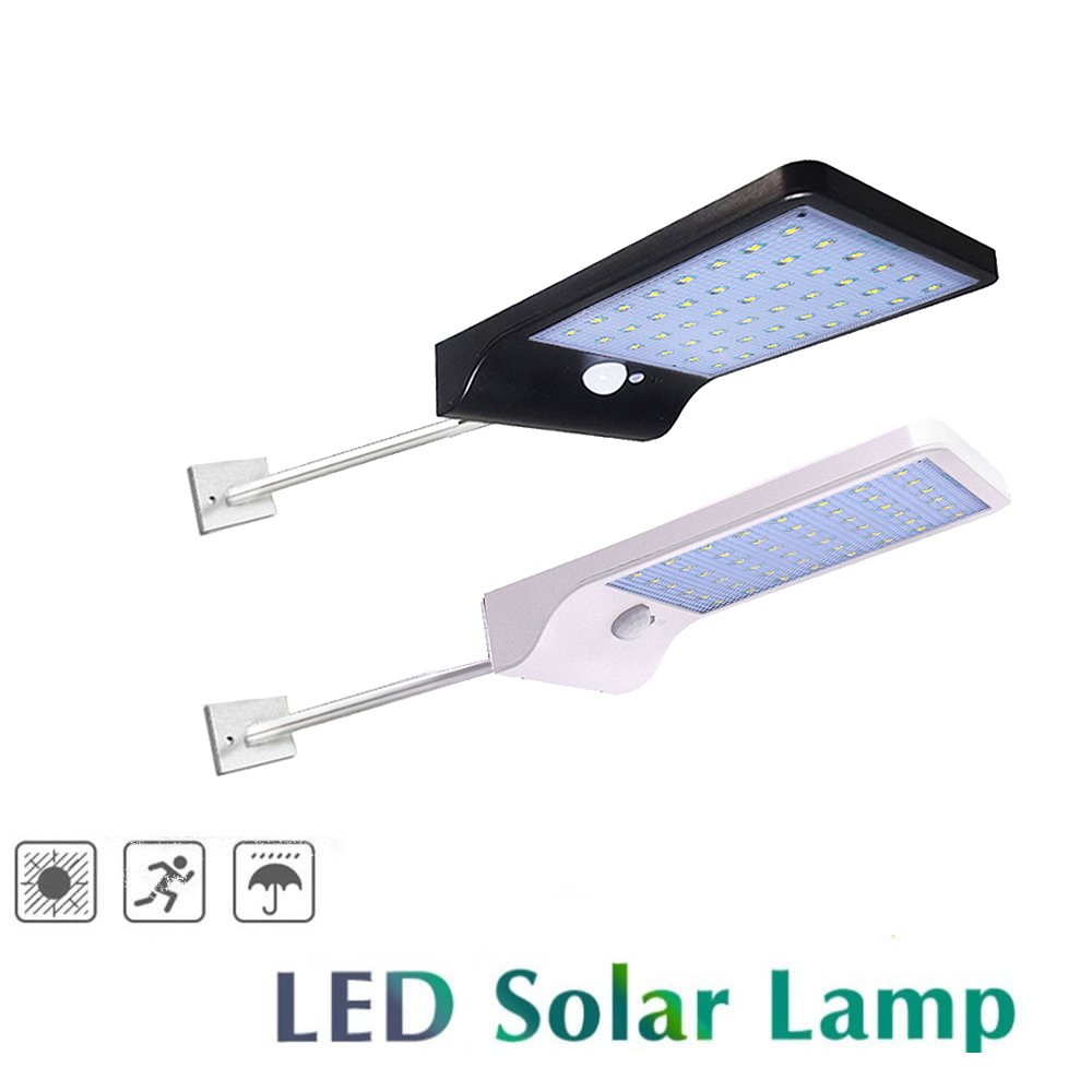 Metal poles Waterproof Super Bright 48 LED Motion Sensor Solar Light With Mounting Pole Power Lamp Lights For Outdoor Wall Yard Solar Lamps     - title=