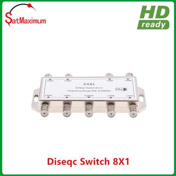 Darmowa wysyłka brand new 8 #215 1 przełącznik DiSEqC 8 w 1 z dostępem do kanałów satelitarnych LNB MultiSwitch tanie i dobre opinie SatMaximum DIGITAL DS-08 950-2400MHZ
