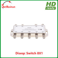 Gratis verzending brand new 8x1 DiSEqC Switch 8 in 1 Satelliet LNB Multischakelaar(China)