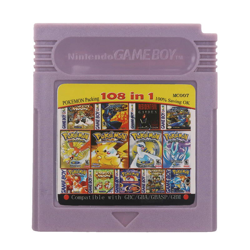For Nintendo GBC Video Game Cartridge Console Card 108 in 1 Compilation English Language Version 1