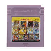 Para Nintendo GBC Tarjeta de consola de cartucho de videojuego 108 en 1 versión en inglés