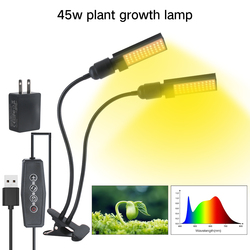 BORUIT oświetlenie do uprawy instrukcje zdalnego sterowania LED do szklarni rośliny do siewu warzyw lampa wewnętrzna do siewu kwiatów|Lampy LED do hodowania roślin|Lampy i oświetlenie -